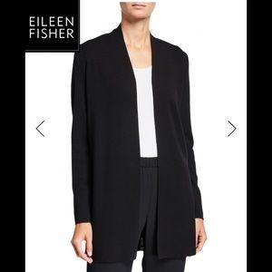 Eileen Fisher Merino Wool Straight Long Cardigan